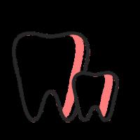 איור של שיניים